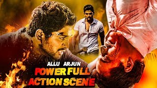 Allu Arjun's Powerful Action Scene | Most Powerful Fight Scene Of Allu Arjun | Best Fight Scene Ever