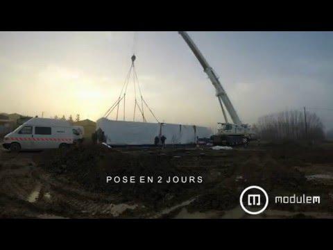 Modulem maison modulaire en b ton de chanvre biosourc e pos e en 2 jours youtube - Maison modulaire beton ...