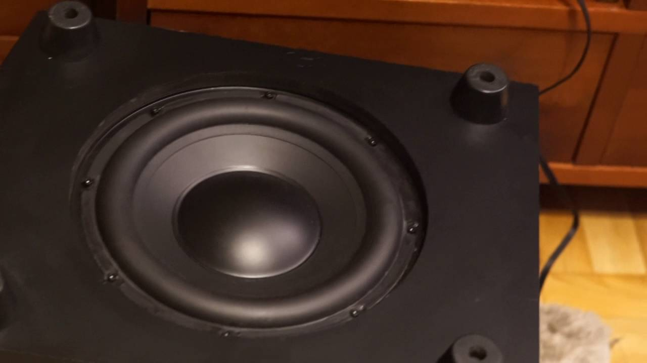 Active subwoofer Teufel Concept S in action - YouTube
