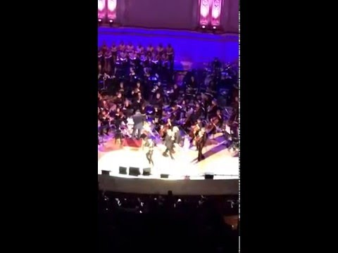 """One"" Bono, The Edge, Jessie J, Miley Cyrus Carnegie Hall NYC World AIDS Day Concert 12/1/15"