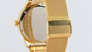 SKMEI 9166 Business Gold Watch