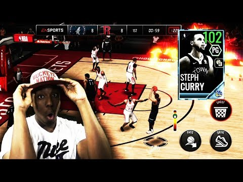 102 OVR ALL-STAR MASTER STEPH CURRY GAMEPLAY!!! THE BEST PG IN NBA LIVE MOBILE 18