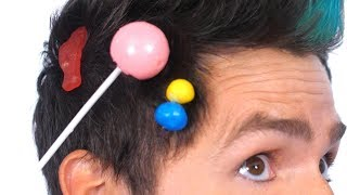 Candy Stuck In Hair Surprise!