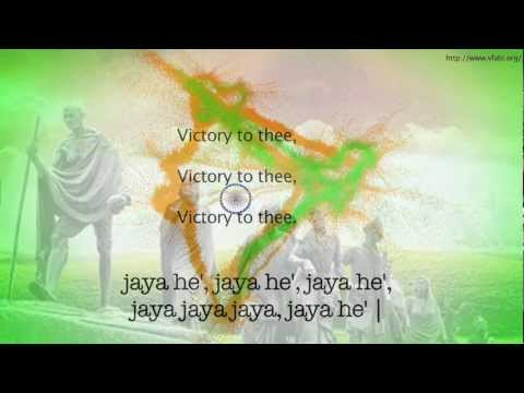 Indian National Anthem with English Meaning - Jana Gana Mana /Overseas Volunteer for a Better India