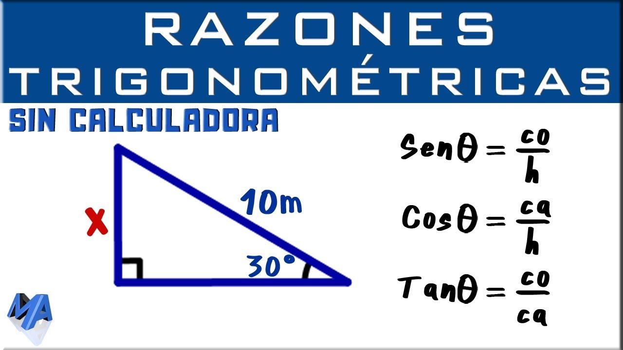 Razones Trigonométricas Sin Calculadora Ejemplo 1 Youtube