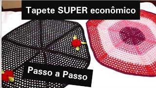 CROCHÊ- Tapete econômico redondo/fácil e rápido # Fácil Crochê Fácil