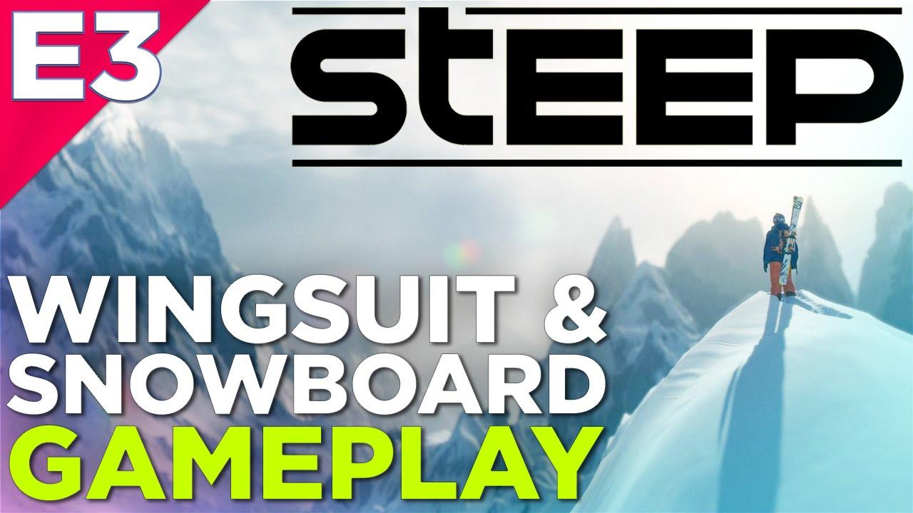 Steep Gameplay 15 Minutes Of Snowboarding Wingsuit