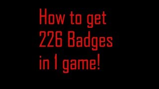 226 Badges in this game! ROBLOX
