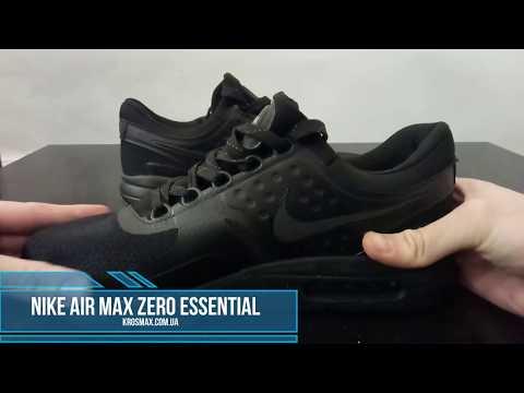 c52d70fc Живой видео обзор кроссовки Nike Air Max Zero Essential Black реплика -  YouTube