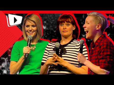 Grace, Hannah, and Mamrie answer Dutch Trivia live onstage