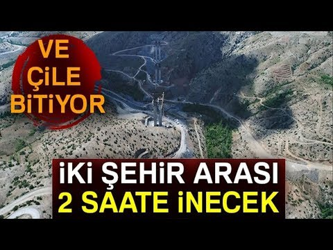 """Türkiye'nin En Yüksek Ayaklı """"Eyiste Viyadüğü"""" Havadan Görüntülendi"""