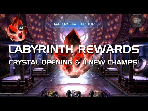 Labyrinth of Legends Rewards Crystal Opening (11 New Champs) | Marvel Contest of Champions