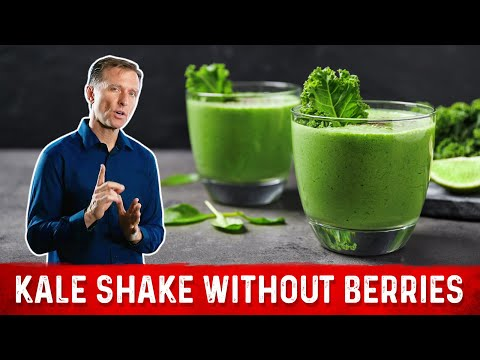 Dr. Berg Makes an Edible Kale Shake WITHOUT Berries or Fruit