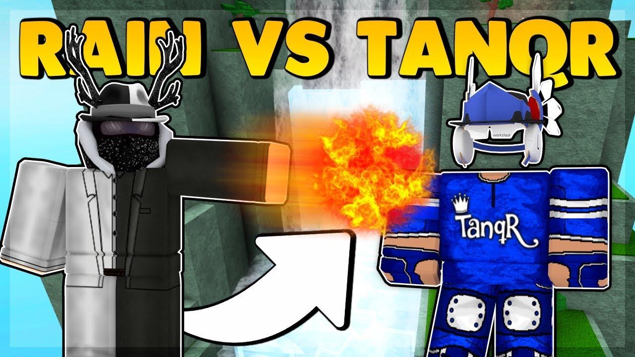 Rainway Vs Tanqr Roblox Super Power Training Simulator Youtube