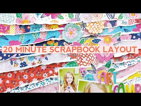 20 Minute Scrapbook Layout