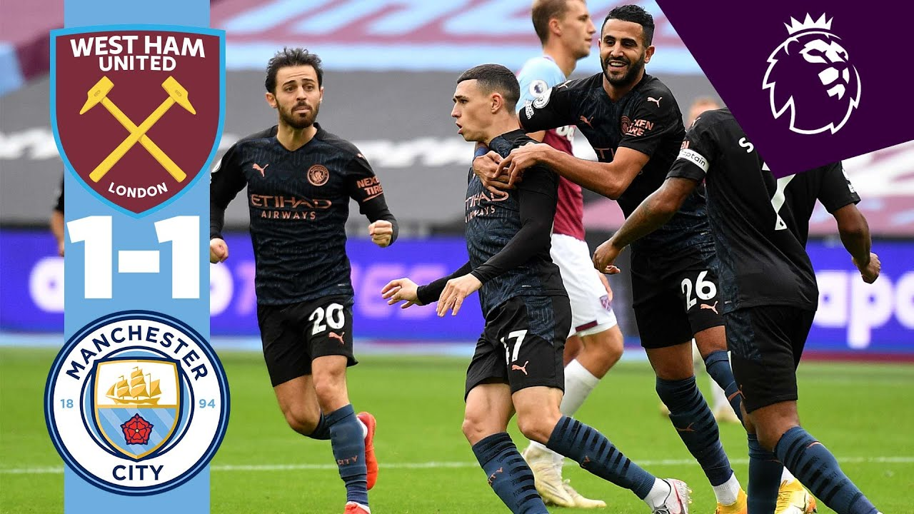 HIGHLIGHTS | West Ham 1-1 Man City | Phil Foden Goal! - YouTube