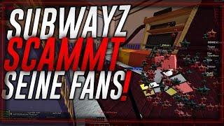 SUBWAYZ'S ILLEGALER ONLINE SHOP, SCAM AN FANS, LÜGEN & MEHR! - 30k YouTuber Elite.