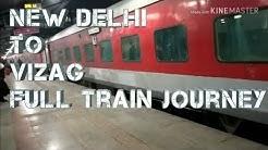 New Delhi To Vizag by Train full Journey