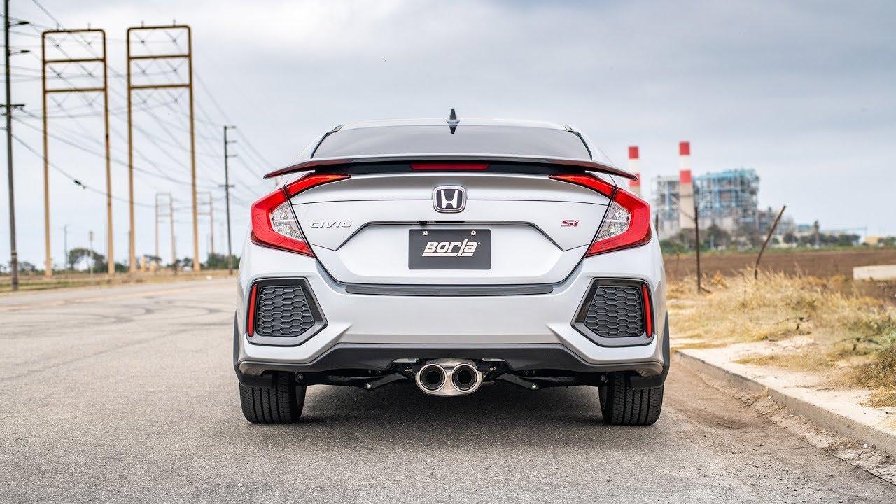 borla exhaust sounds for the 2017 2020 honda civic si sedan exhaust system sounds