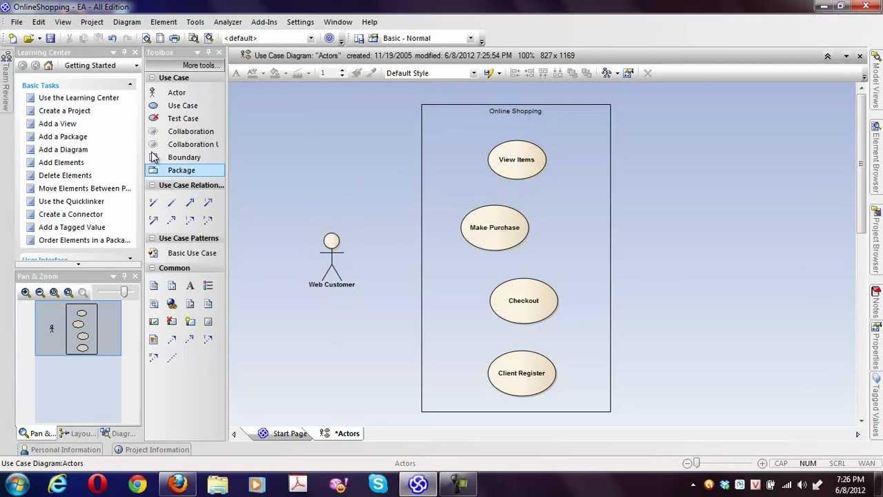Hướng dẫn vẽ sơ đồ UML cơ bản