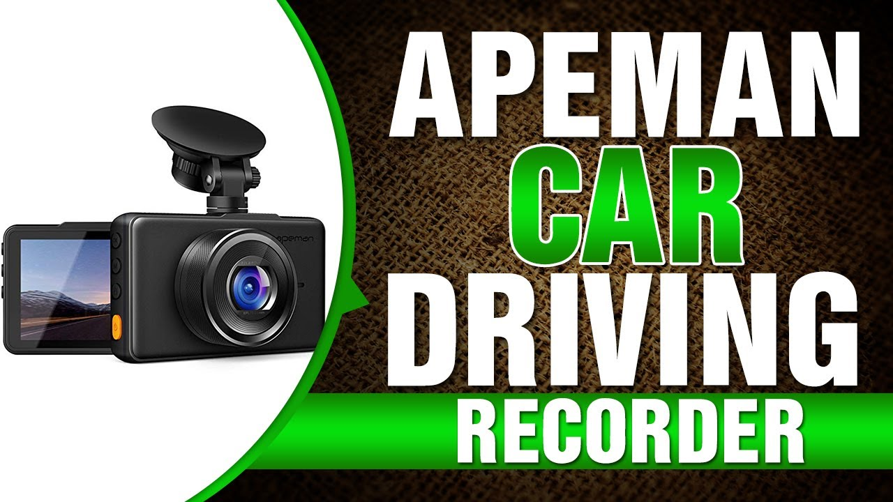 APEMAN Dash Cam 1080P FHD DVR Car Driving Recorder 3 Inch LCD Screen 170/° Wide Angle WDR Parking Monitor Motion Detection Loop Recording G-Sensor