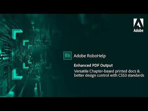 Enhanced PDF output in Adobe RoboHelp