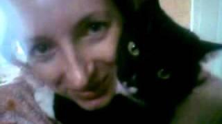 жена Ира и кот Лексус