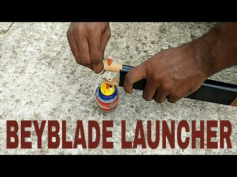 Make Beyblade launcher | Homemade Beyblade LAUNCHER ...