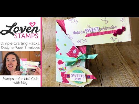 Crafting Hacks: Simple Designer Paper Envelopes