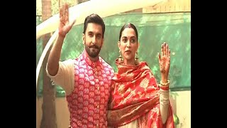 Download Video Deepika Padukone and Ranveer Singh return home as man and wife MP3 3GP MP4