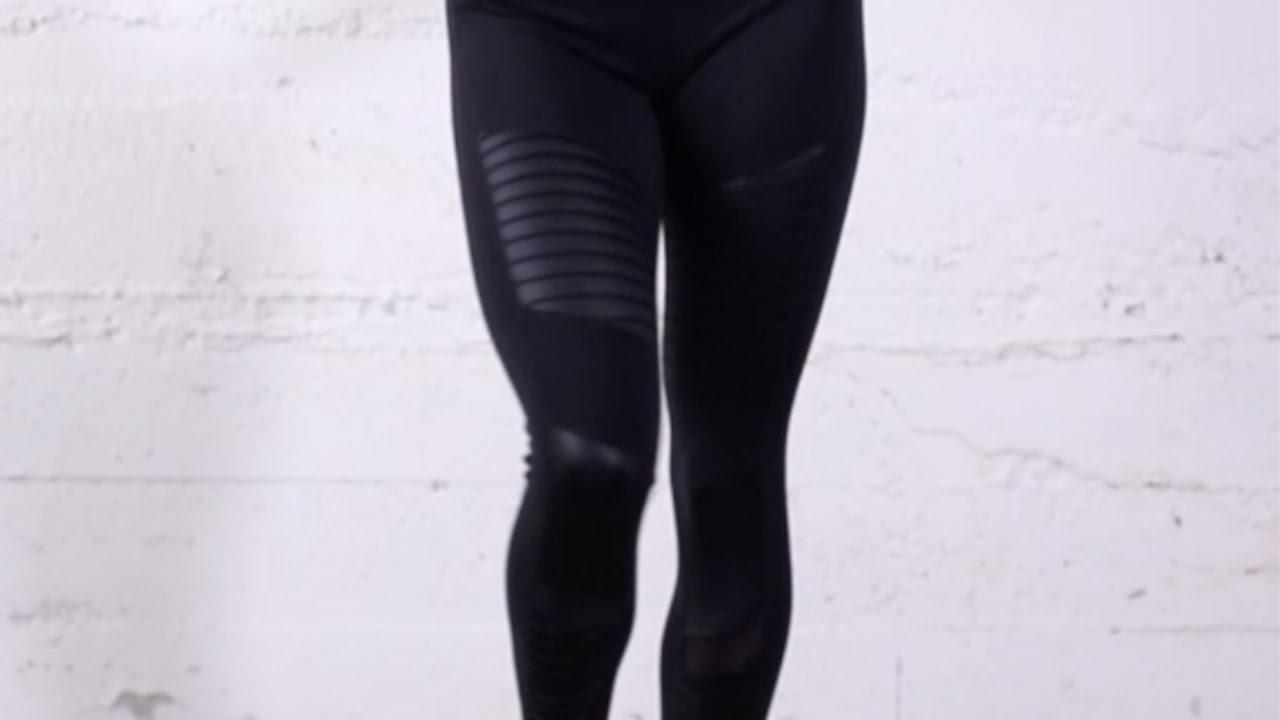 9c23f27f70 Alo Yoga Moto Legging in Black - YouTube