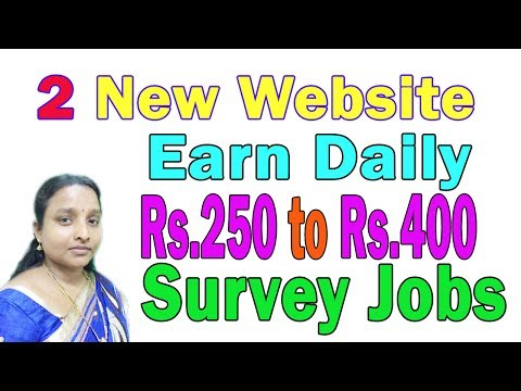 Best 2 Online Survey Jobs Website in Tamil