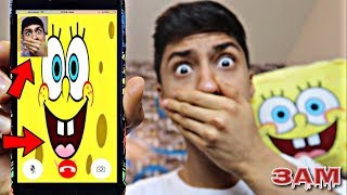 DO NOT FACETIME SPONGEBOB AT 3AM!! *OMG HE CAME TO MY HOUSE*
