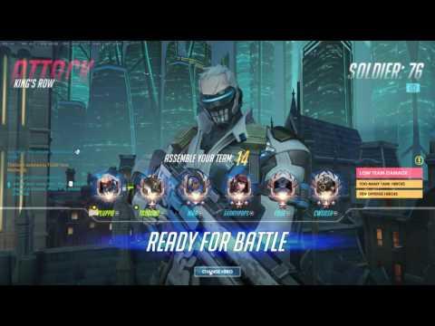 [Rank: 4500 SR] Tviq | Soldier:76 | King's Row Pro Gameplay