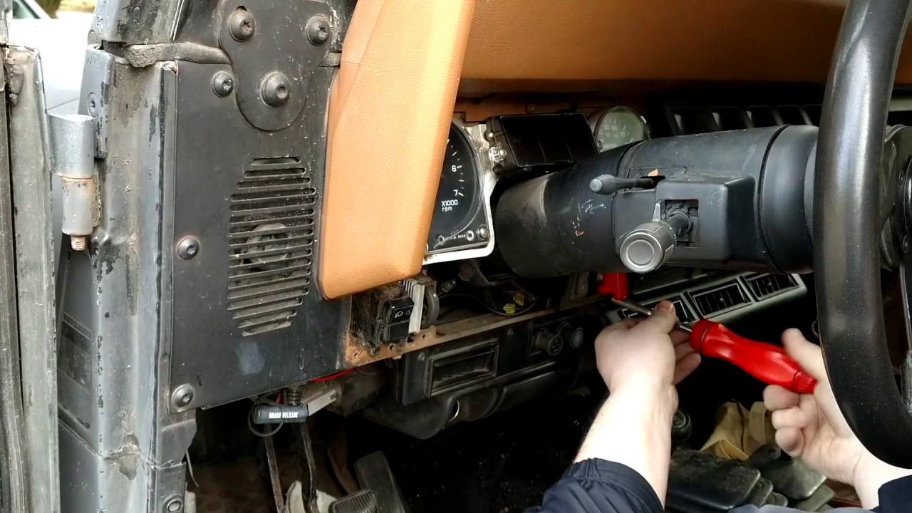 How To Change 1995 Jeep Wrangler Dash Lights Hd