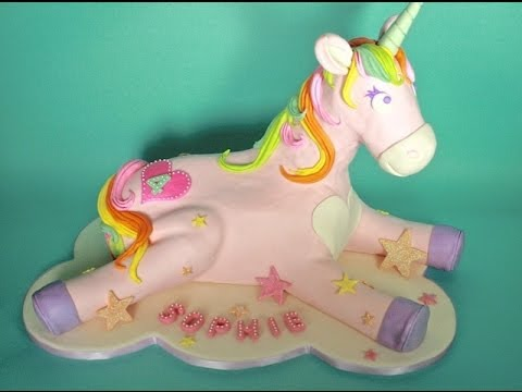 How To Make A Rainbow Unicorn Cake