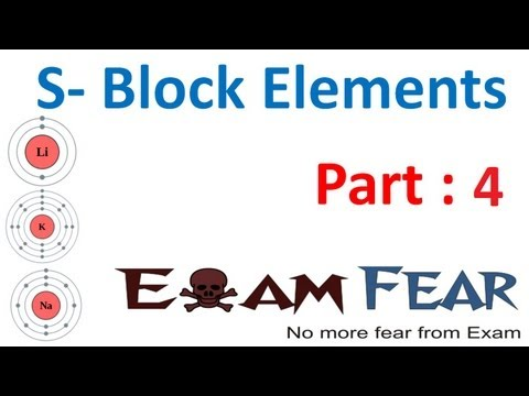 Chemistry S Block Elements part 4 (Alkali metal trends Chemical properties 1) CBSE class 11 XI