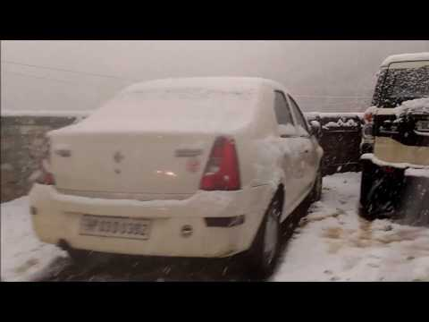 Live Snowfall In Shimla 7th Jan 2017, Amazing Feeling !!!!