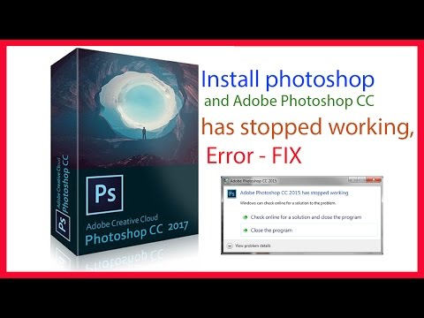 install photoshop and fix error