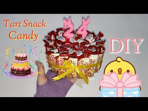 Cara Membuat Kue Ulang Tahun Dari Snack Rekomendasi Hadiah Kado Ultah Murah Tart Permen Kekinian Youtube