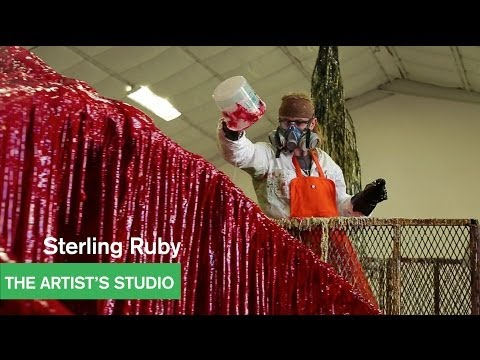 Continuation painting with richard prince doovi for Sterling ruby paintings