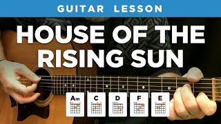 "🎸 ""House of the Rising Sun"" guitar lesson w/ chords & tabs (The Animals)"