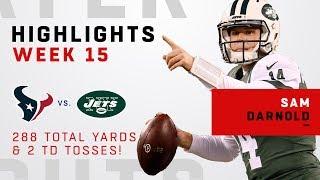 Sam Darnold Highlights vs Texans