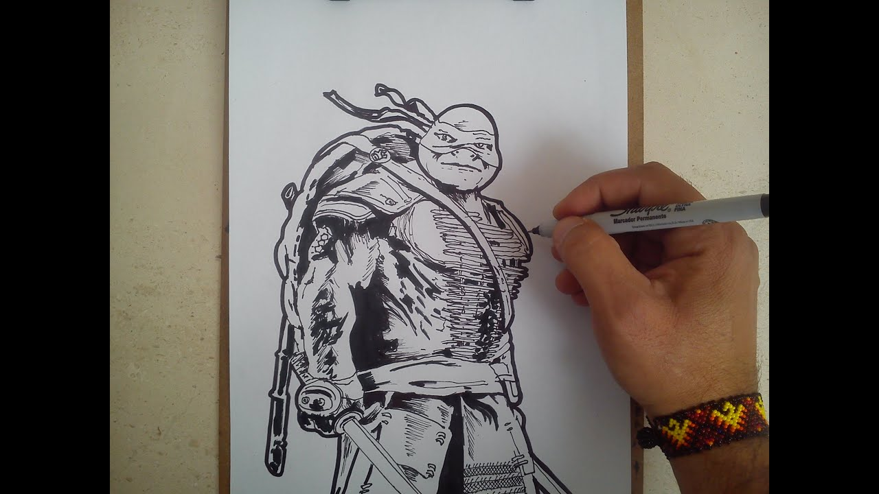 como dibujar a leonardo tortugas ninja 2 / HOW TO DRAW A LEONARDO ...