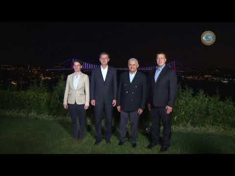 Başbakan Yıldırım, 3 Ülkenin Başbakanıyla Çalışma Yemeğinde Bir Araya Geldi