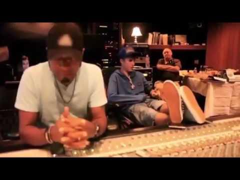 Justin Bieber FA LA LA in Studio