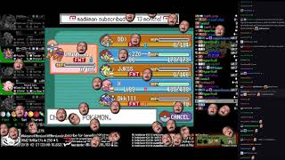 Twitch Plays Pokémon Anniversary Burning Red - Hour 214 to 215