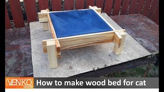 How to make wood bed for cat