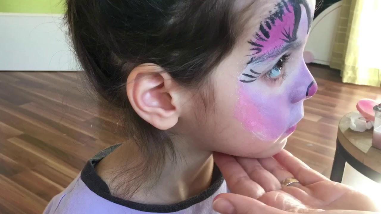 Yüz Boyama Kaplan Makyajı Kılıç Dişli Face Painting Sabre