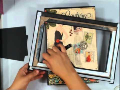 Scrapbook Mini Album: Vertical Paper Bag Album Part 6